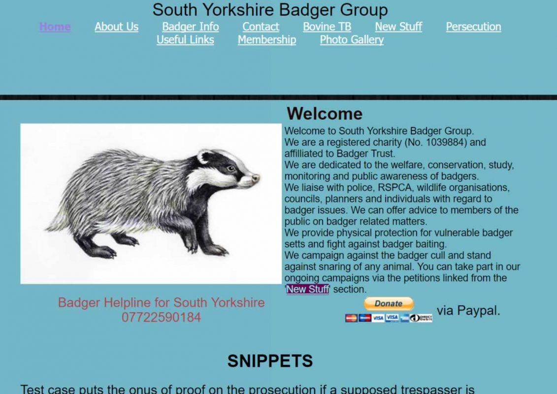 South Yorkshire Badger Group